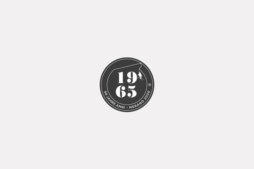 Ausarbeitung eines Logos zum 50-Jahr-Jubiläum der Bergbahnen Meran 2000
